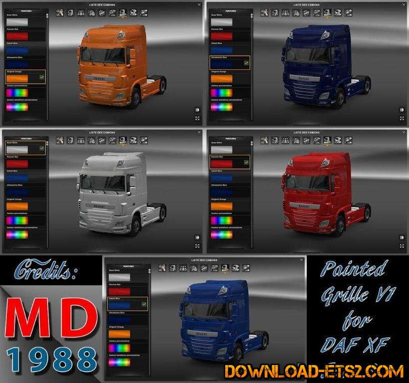 Painted front grill for DAF Euro 6 by MatDom1988