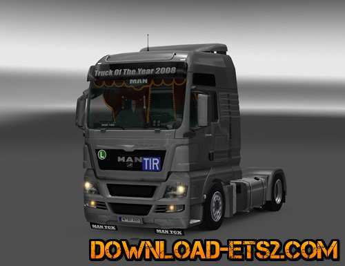 Accessories in the cabin and a small tuning for MAN TGX v2.0