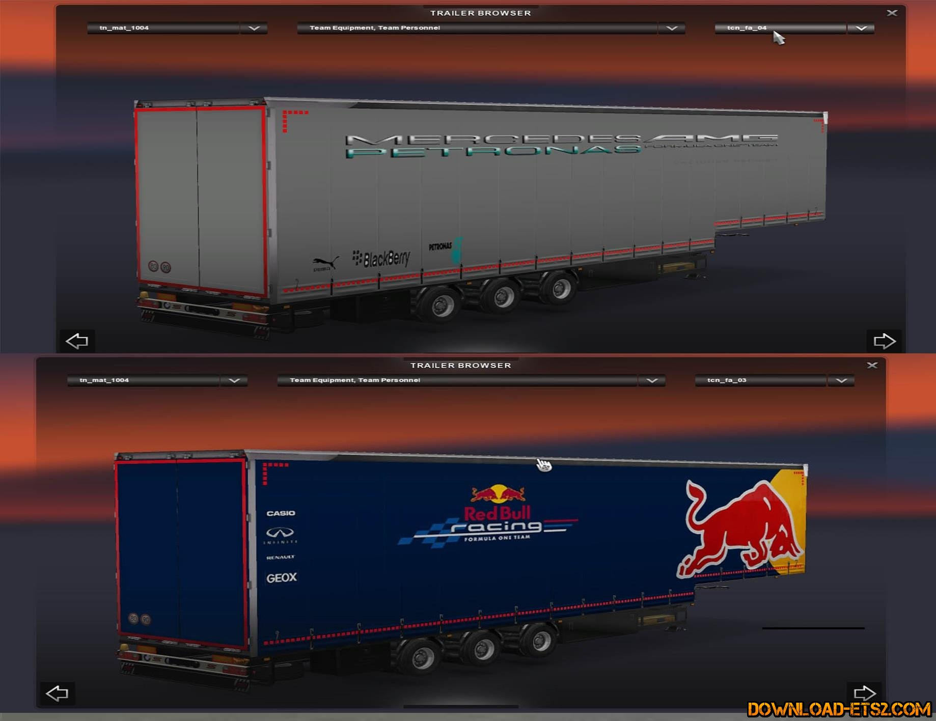 REALISTIC F1 TRAILER PACK by EpicModTeam