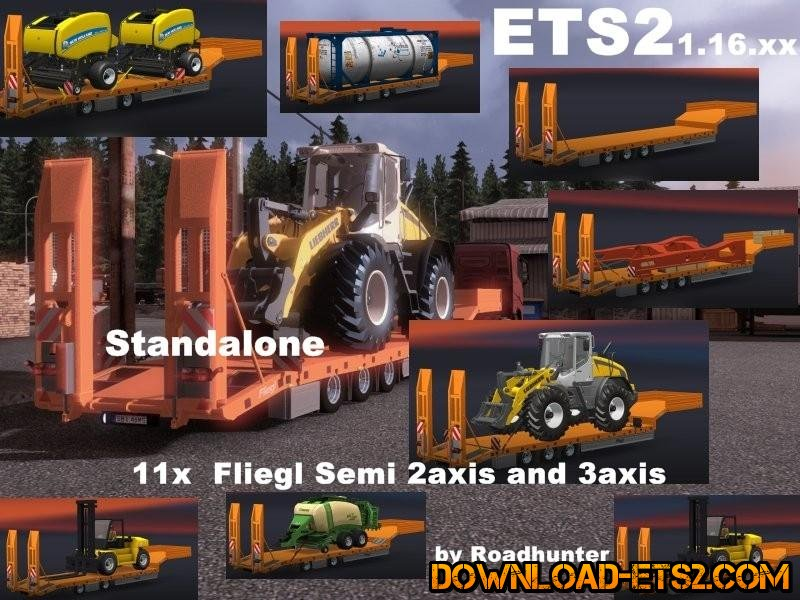 11X FLIEGL SEMI TRAILER PACK by Roadhunter