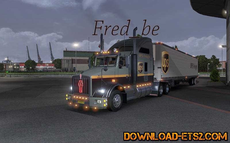 KENWORTH T800 + AMERICAN TRAILER UPS by Fred_be