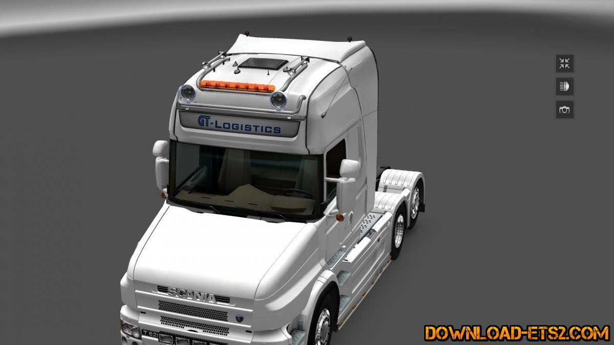 GTM KELSA DOUBLE ROOFBAR for SCS AND RJL SCANIA by GT-Mike