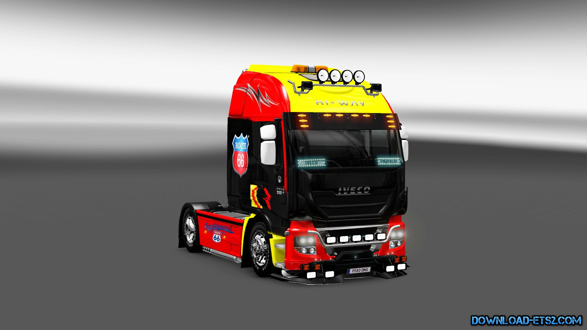 Skin Iveco Hi-Way Route 66 + Interior