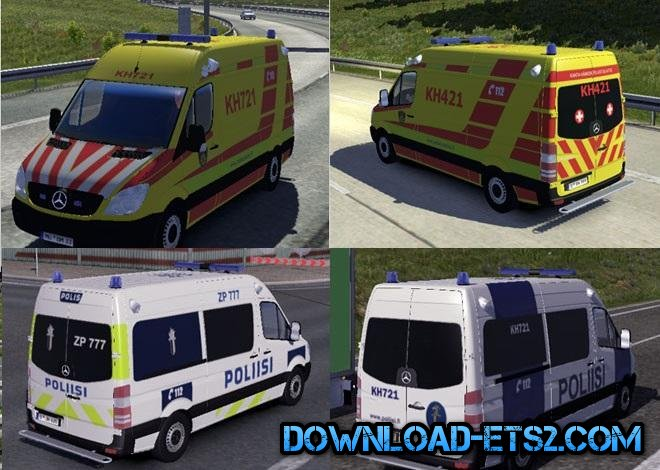 FIN POLICE AND AMBULANCE AI CARS v2.2.2 for ETS2
