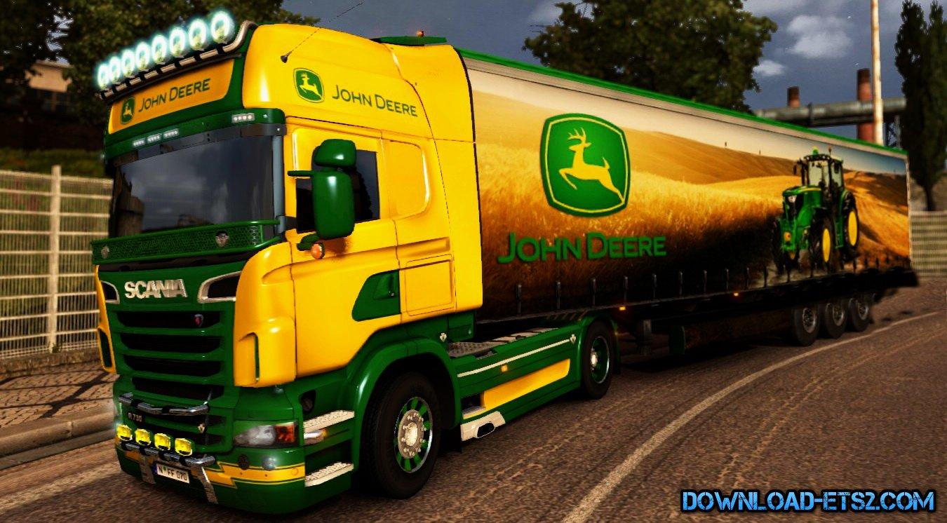 Skin John Deere for Scania R + Trailer skin