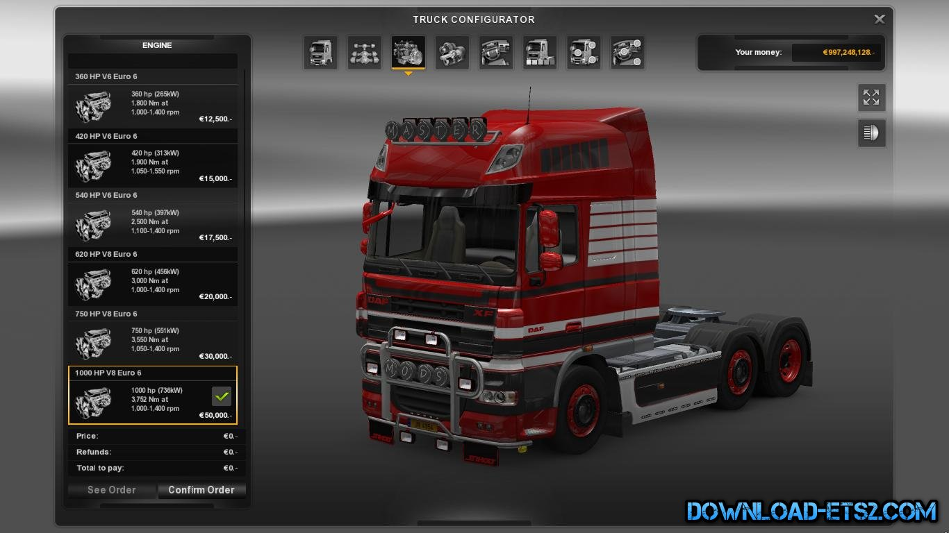 MORE ENGINES v1.0 by MASTERMODS (ALL TRUCKS)