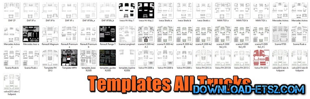 Templates All Trucks by Ficfic