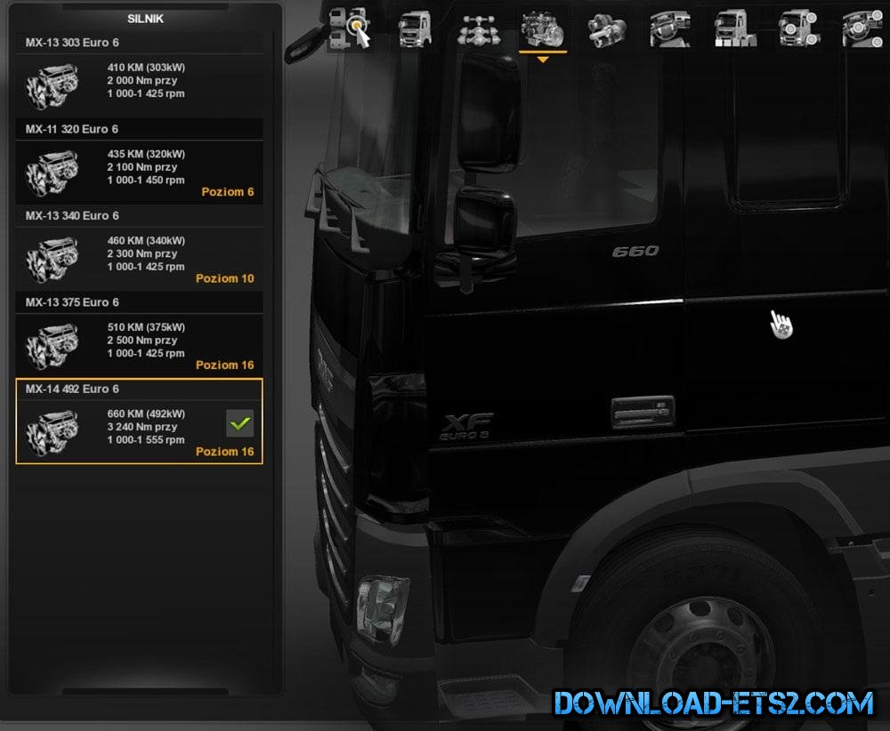 DAF XF EURO 6 660 HP ENGINE WITH BADGE by Piciu713