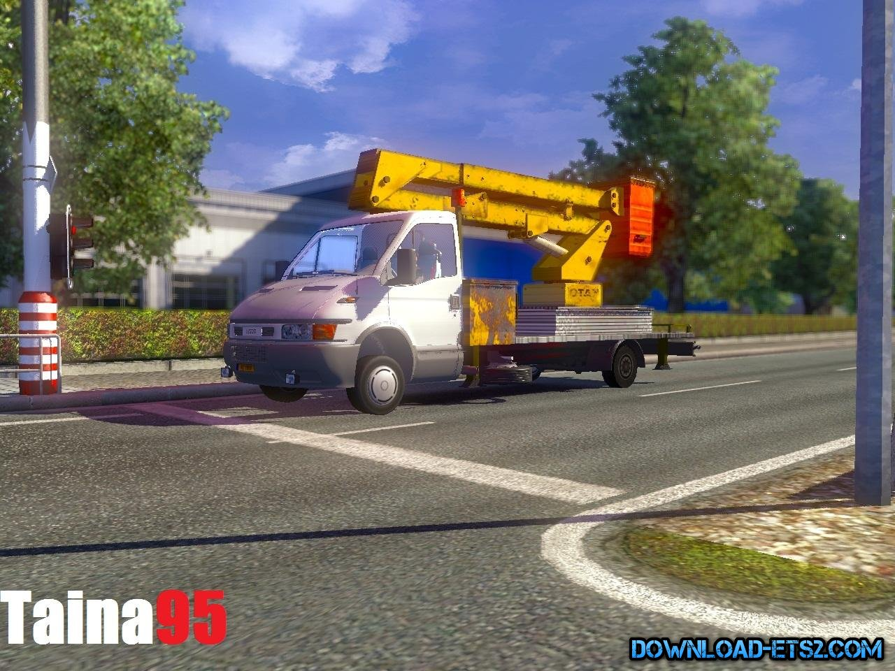 Iveco Daily Service Ai Traffic Car for ETS2