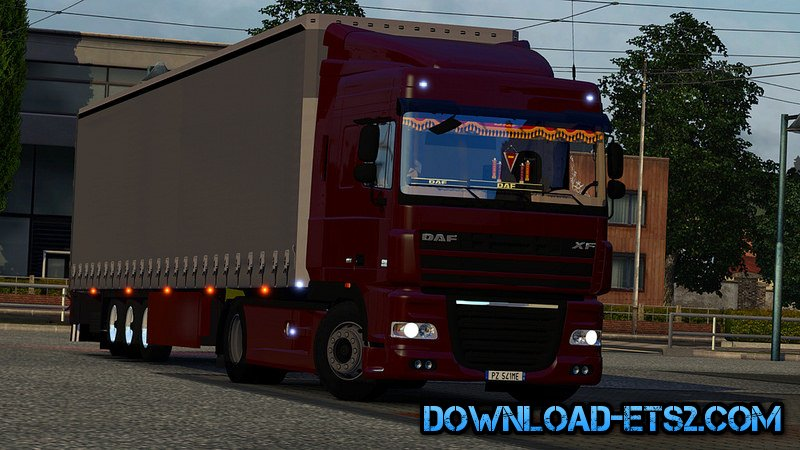 Daf XF105.460 + Interior + Trailer Schmitz by ExELeRz