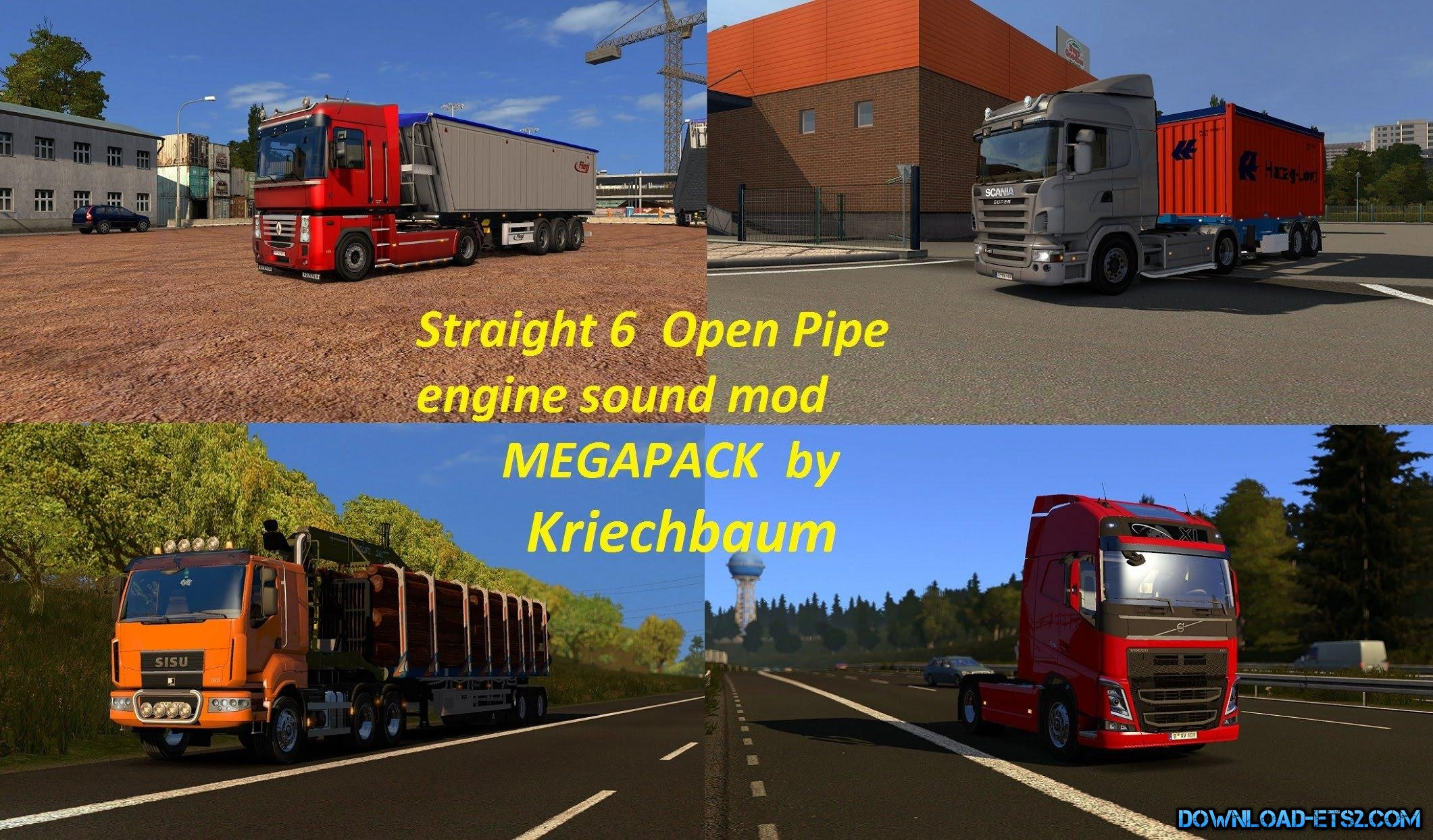 Open Pipe straight 6 engine sounds megapack by kriechbaum