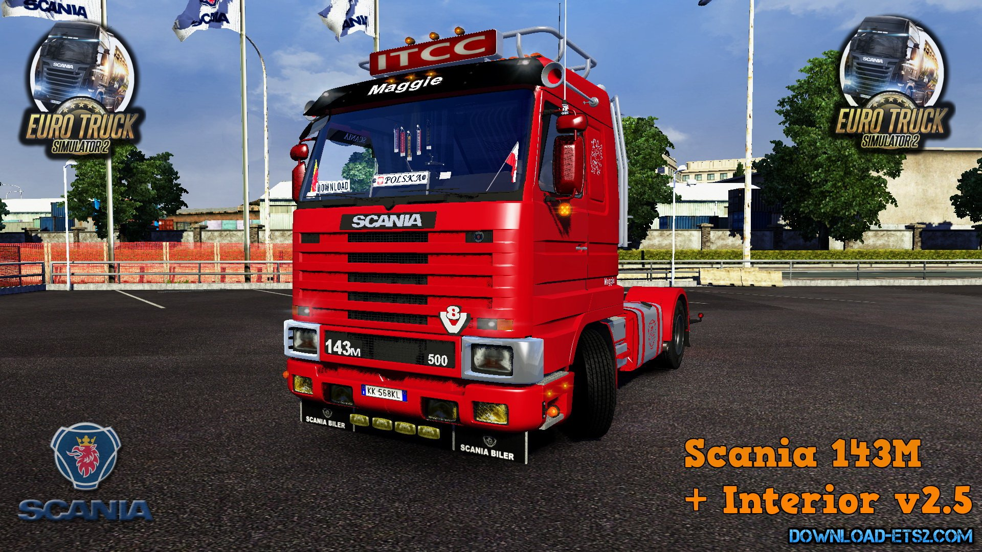 Scania 143M + Interior v2.5 edit by Ekualizer