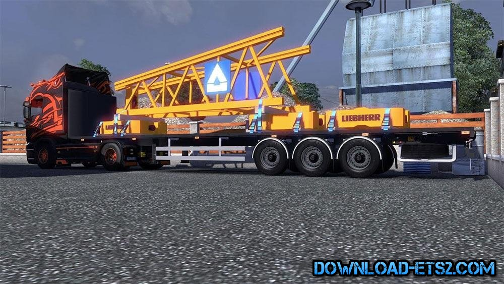 FLATBED WITH CRANE ELEMENT by Savoyard Custom