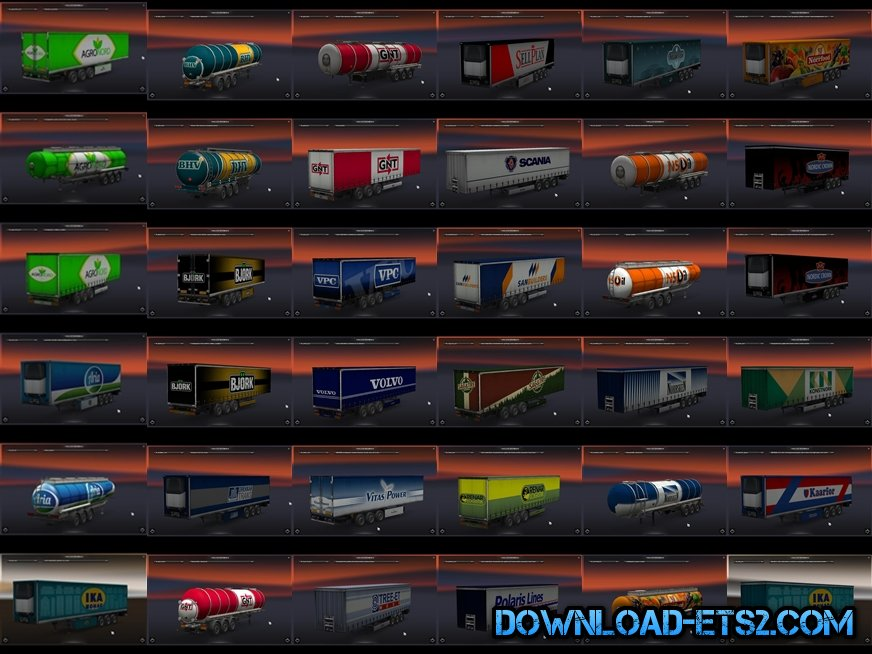Scan dlc trailer skin pack for ETS2