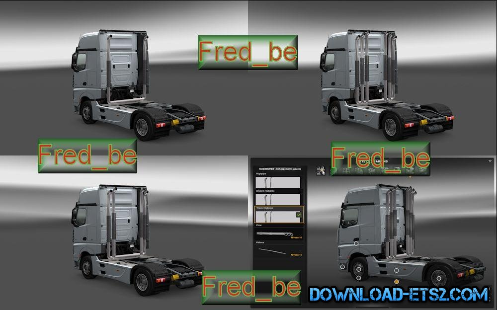 HIGHPIPE FOR MERCEDES ACTROS 2014 [1.18.X]