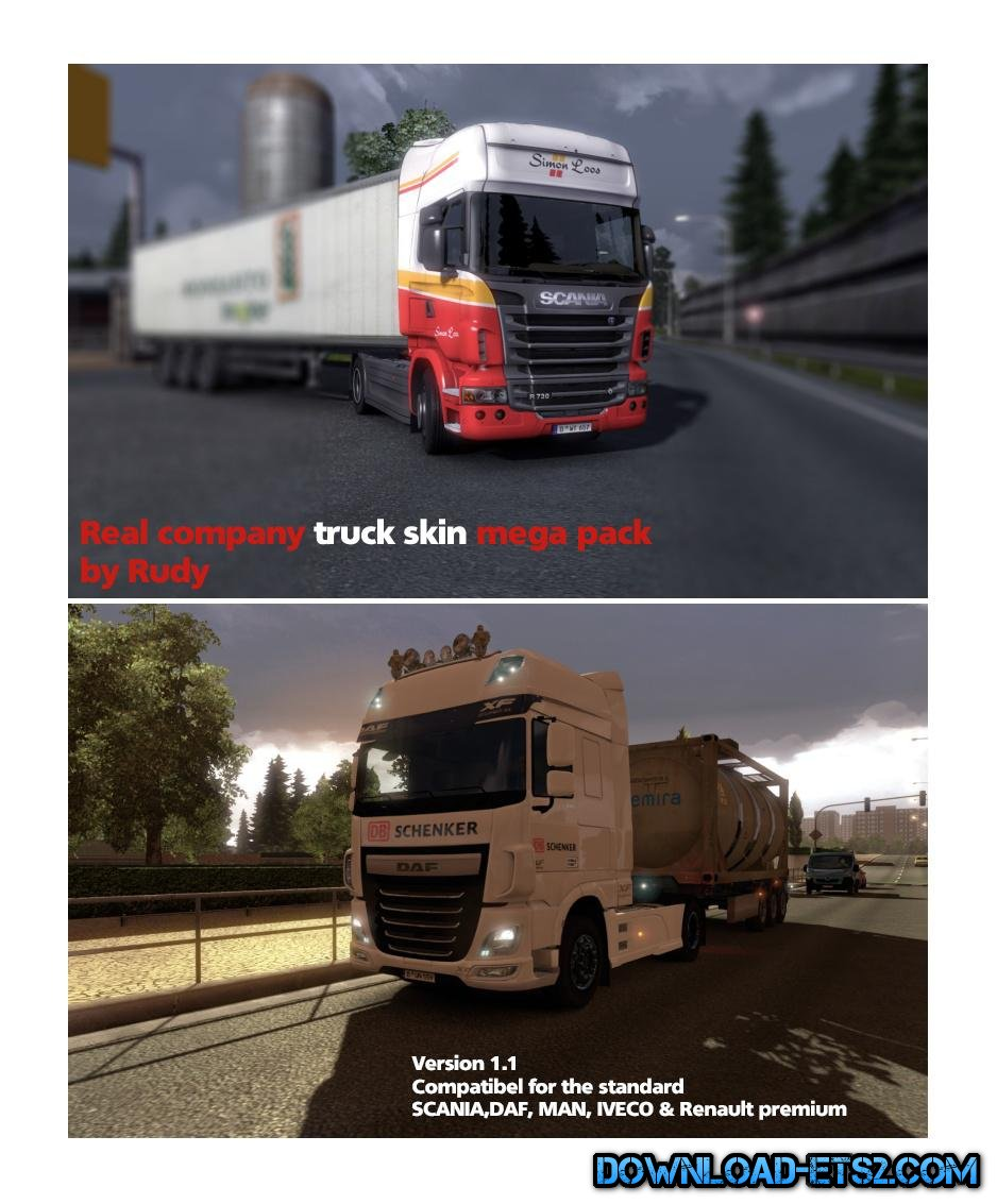 REAL COMPANY TRUCK SKIN (MEGA PACK) v1.1 BY RUDY