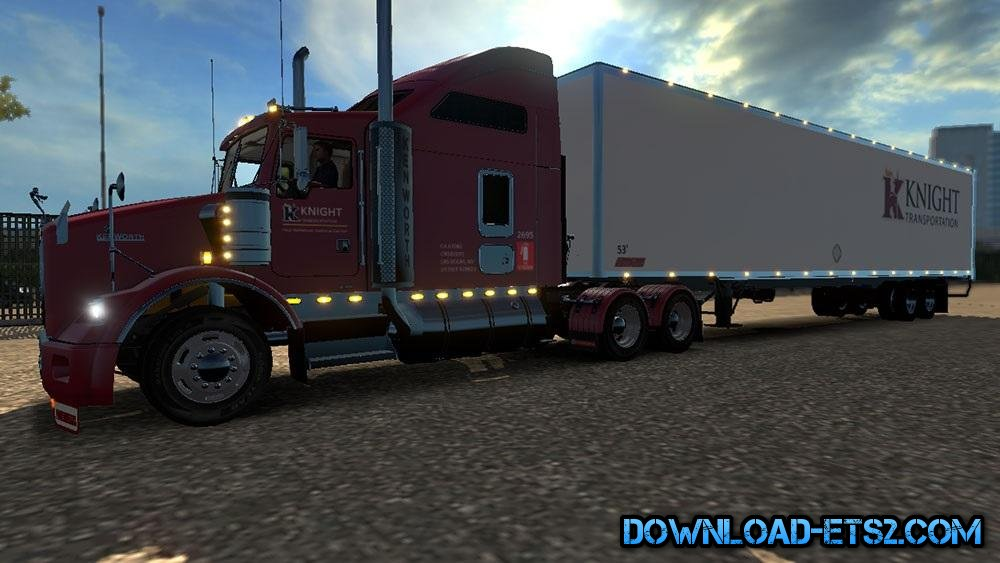 DC KNIGHT T800 (BETA) + AMERICAN TRAILER COMBO SKIN PACK 02