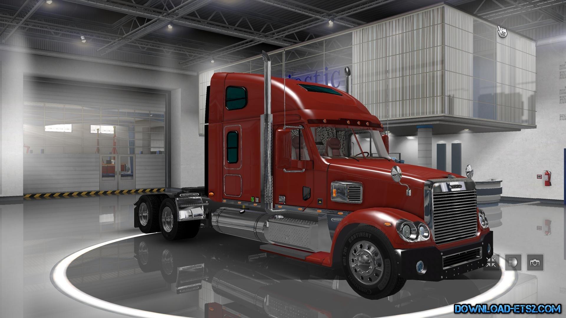 freightliner coronado original ets2 mods euro. Black Bedroom Furniture Sets. Home Design Ideas