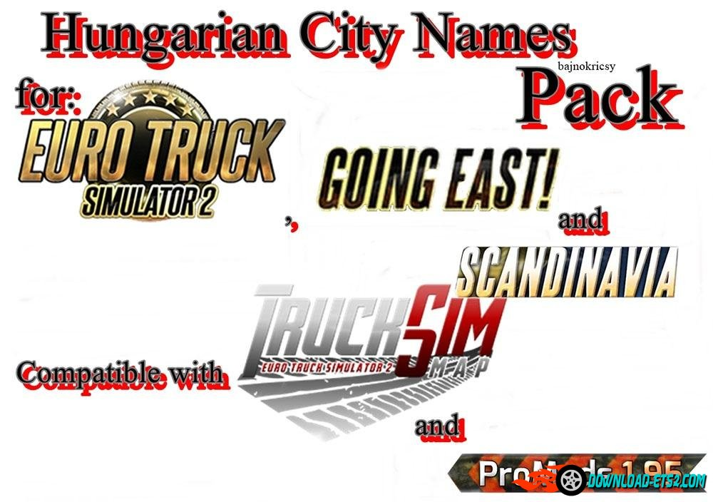 HUNGARIAN CITY NAMES PACK by bajnokricsy