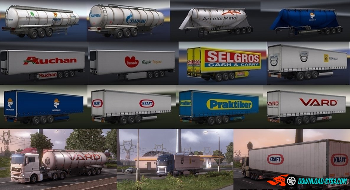 RealTrailers Pack by ALEX for ETS2