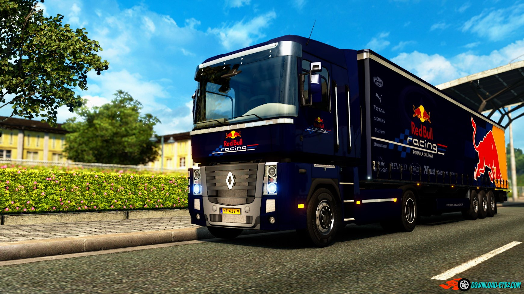 Renault Magnum Red Bull F1 Team + Trailer Skin