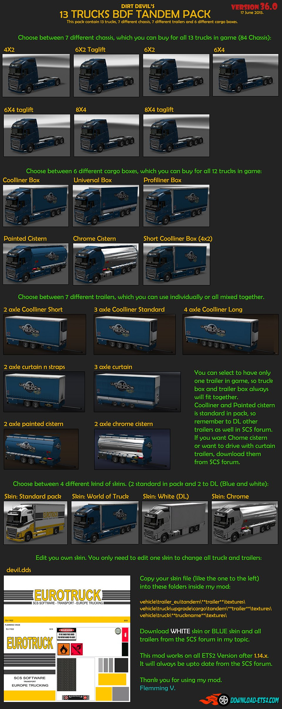 BDF TANDEM TRUCK PACK(updated) V36.0