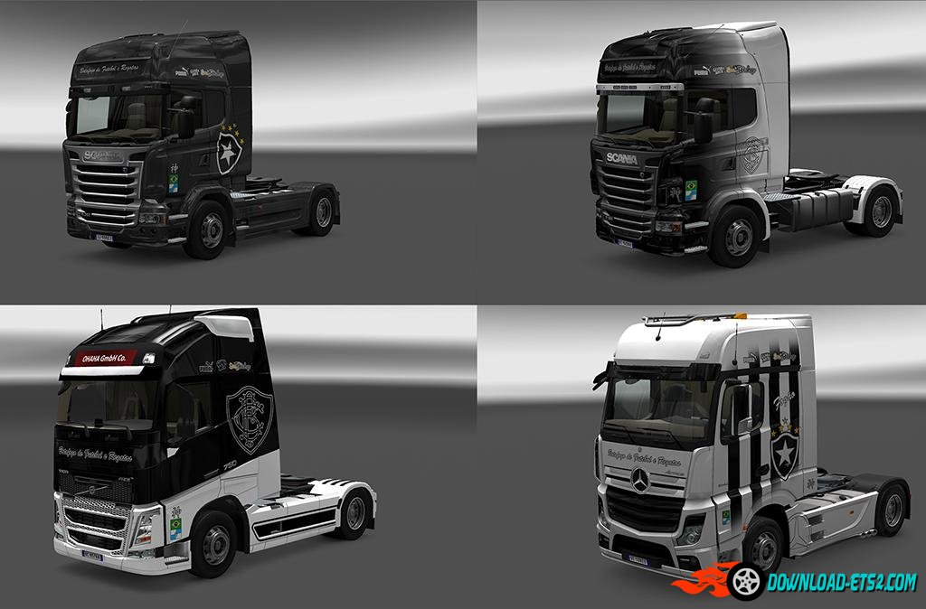 BOTAFOGO MEGA PACK OF SKINS by iconRJ