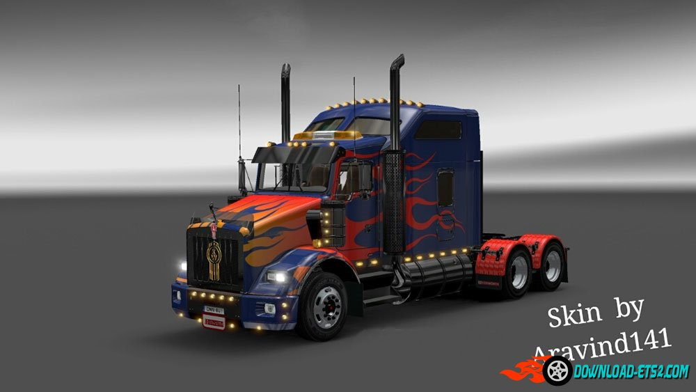 Kenworth T800 Optimus Prime Skin