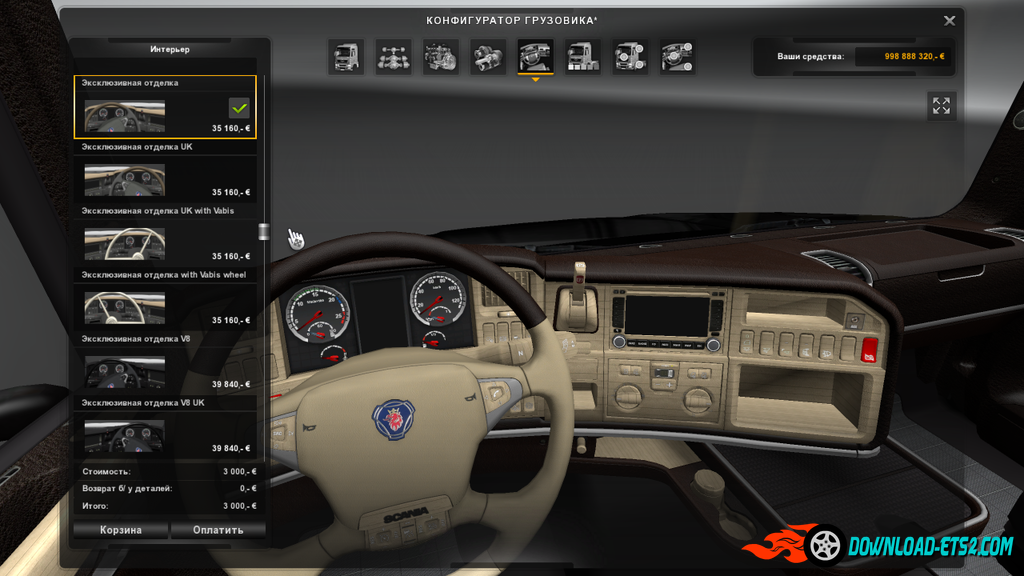 Interior for Scania T RJL 1.6