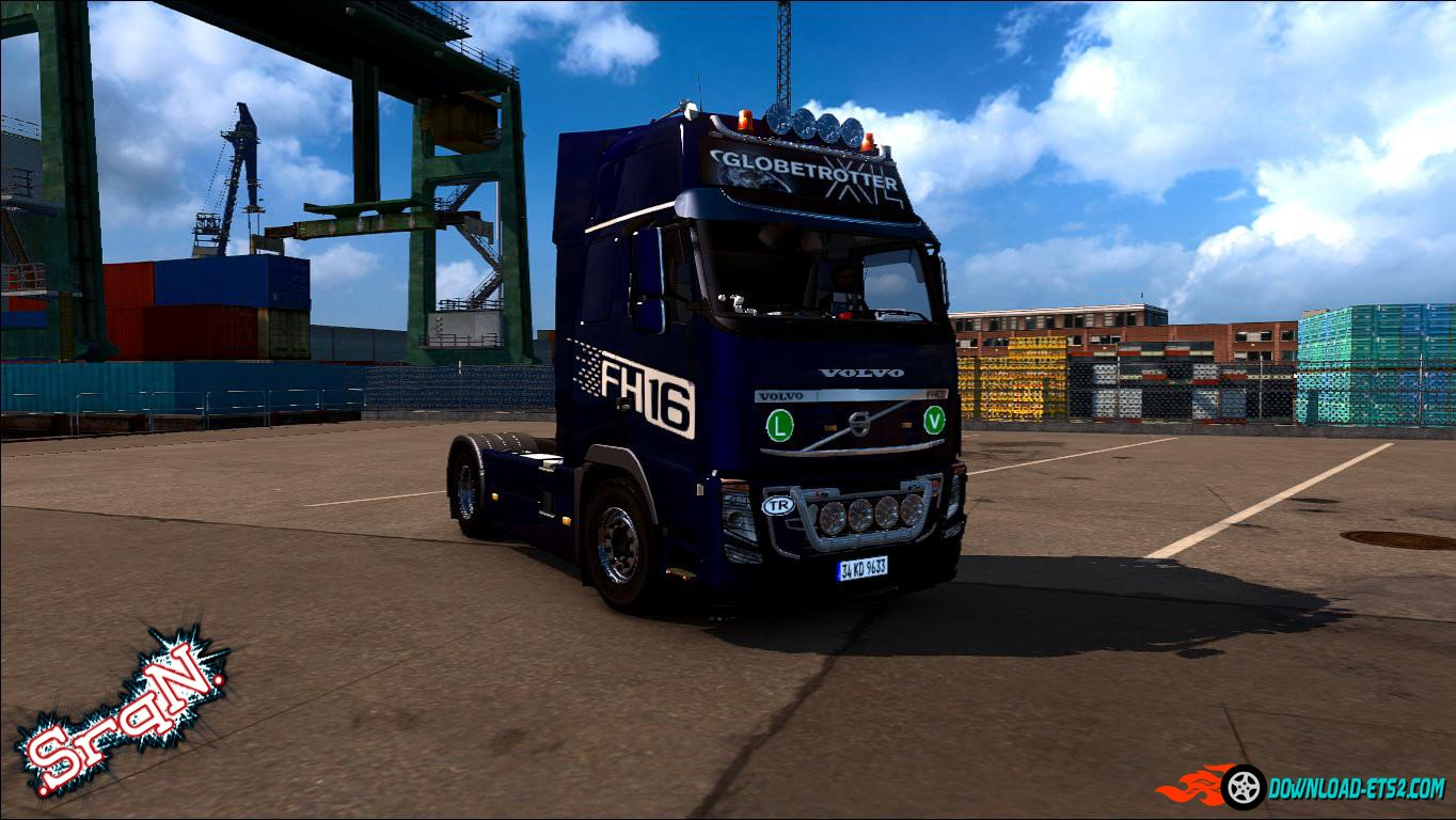 VOLVO FH16 2009 KELSA ACCESSORY + INTERIOR ANIM GPS » ETS2 mods, SCS