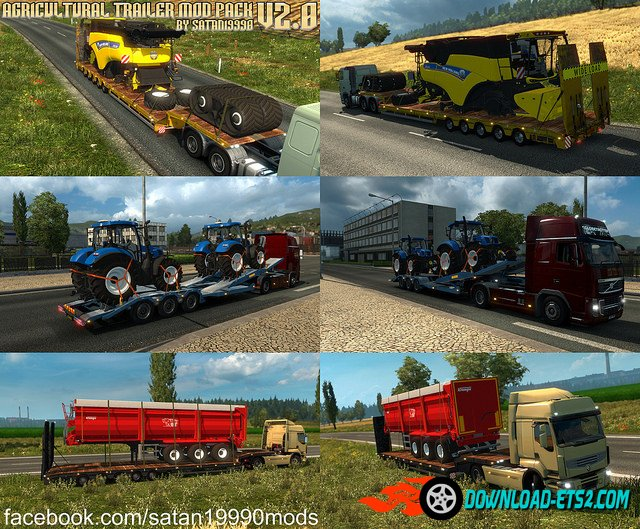 Agricultural Trailer Mod Pack v2.0 by satan19990