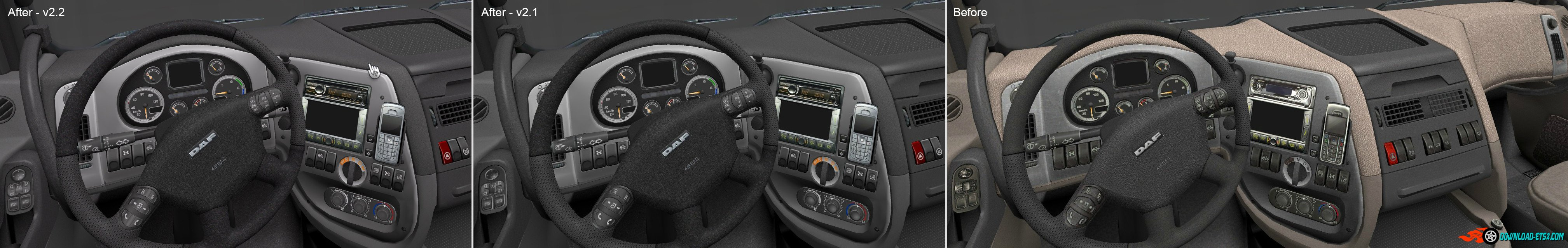 DAF XF - HD Interior v2.3 (by nIGhT-SoN)