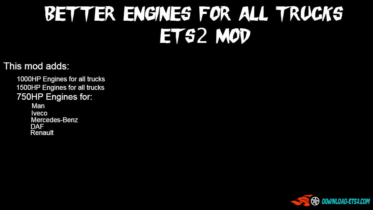 BETTER ENGINES FOR ALL TRUCKS