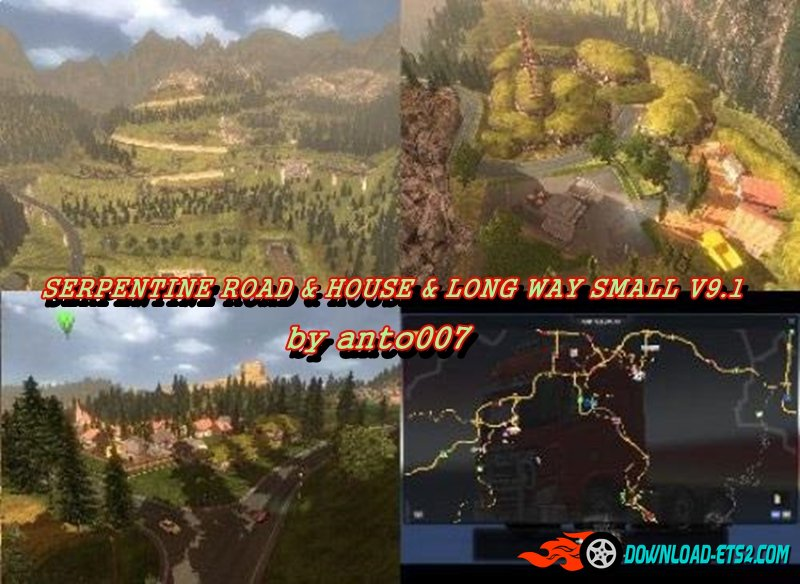 SERPENTINE ROAD & HOUSE & LONG WAY SMALL V9.1