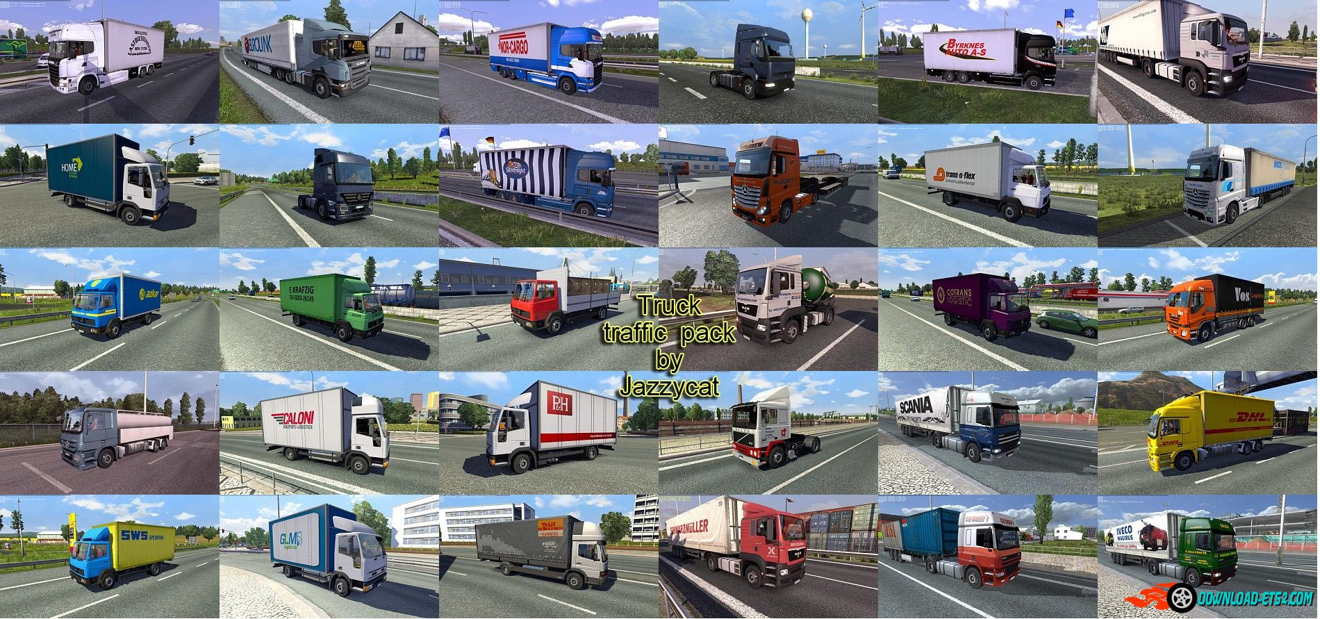 Truck Traffic Pack v1.8.2 by Jazzycat