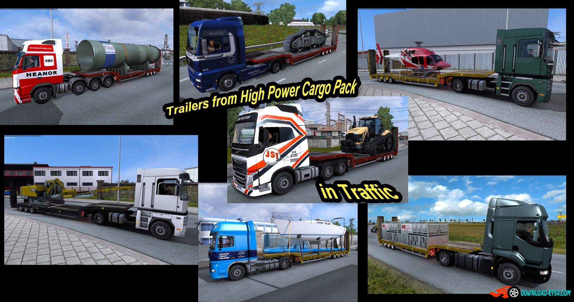 TRAILERS FROM DLC HIGH POWER CARGO PACK IN TRAFFIC