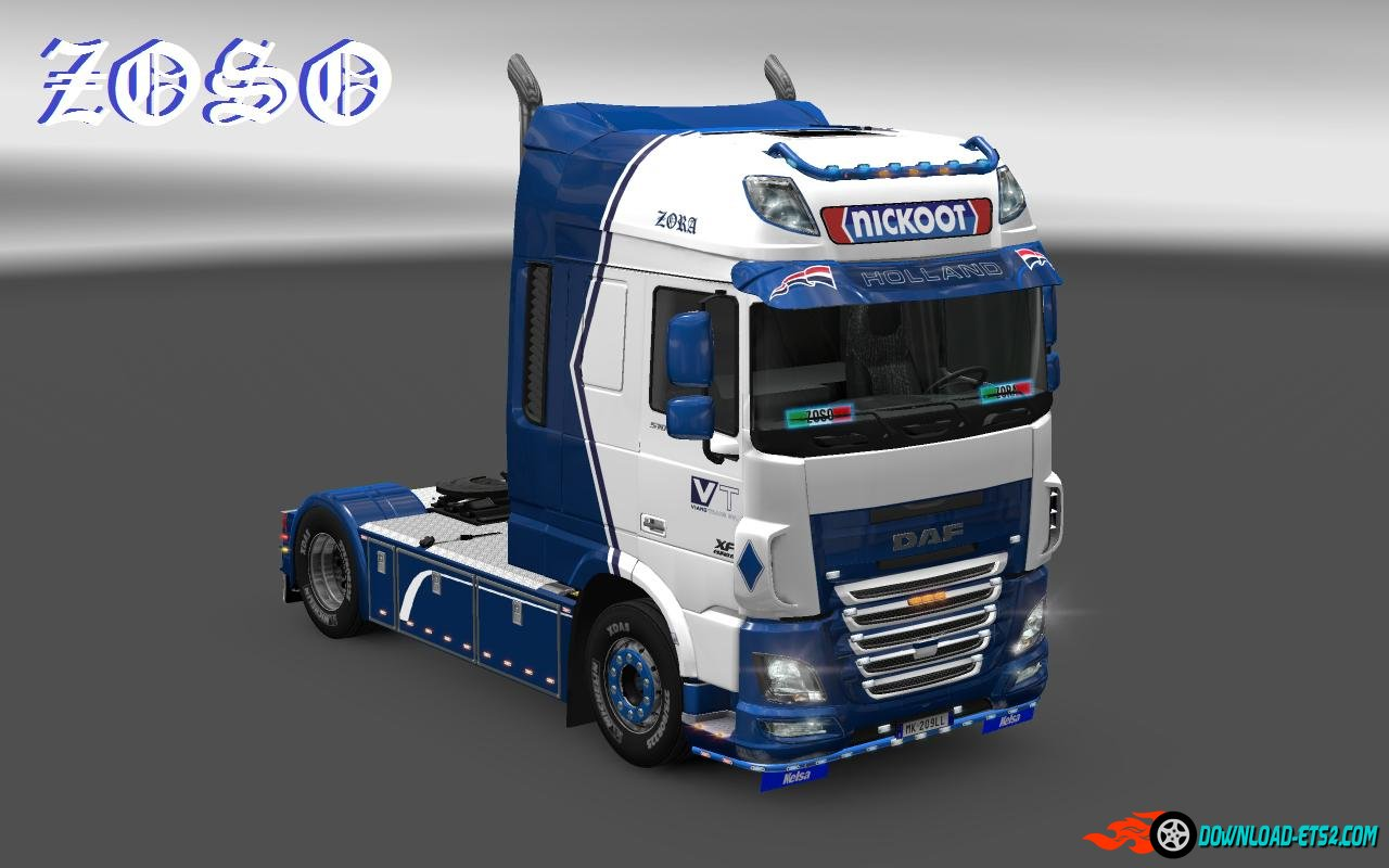 "DAF XF E6 (OHAHA) ""NICKOOT"" INTERNATIONALE KOELTRANSPORTEN SKIN"