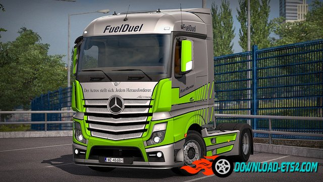 "Mercedes Actros ""Fuel Duel"" skin by Borsuk"