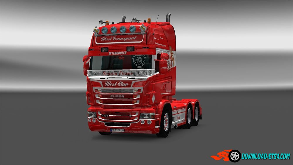 """West Star"" skin for Scania Rjl V1.4"
