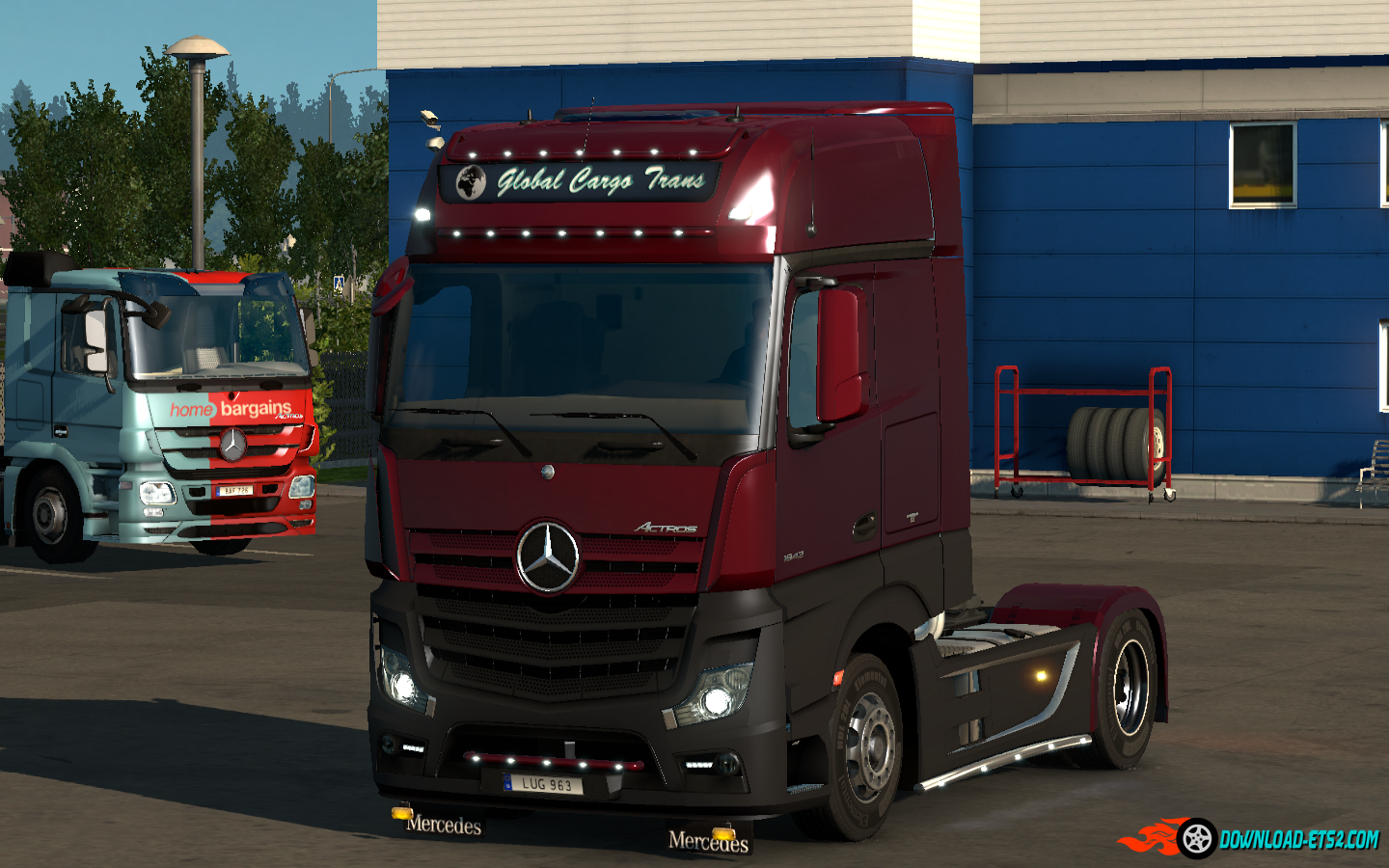 mercedes actros mp4 tuning mod ets2 download wroc awski. Black Bedroom Furniture Sets. Home Design Ideas