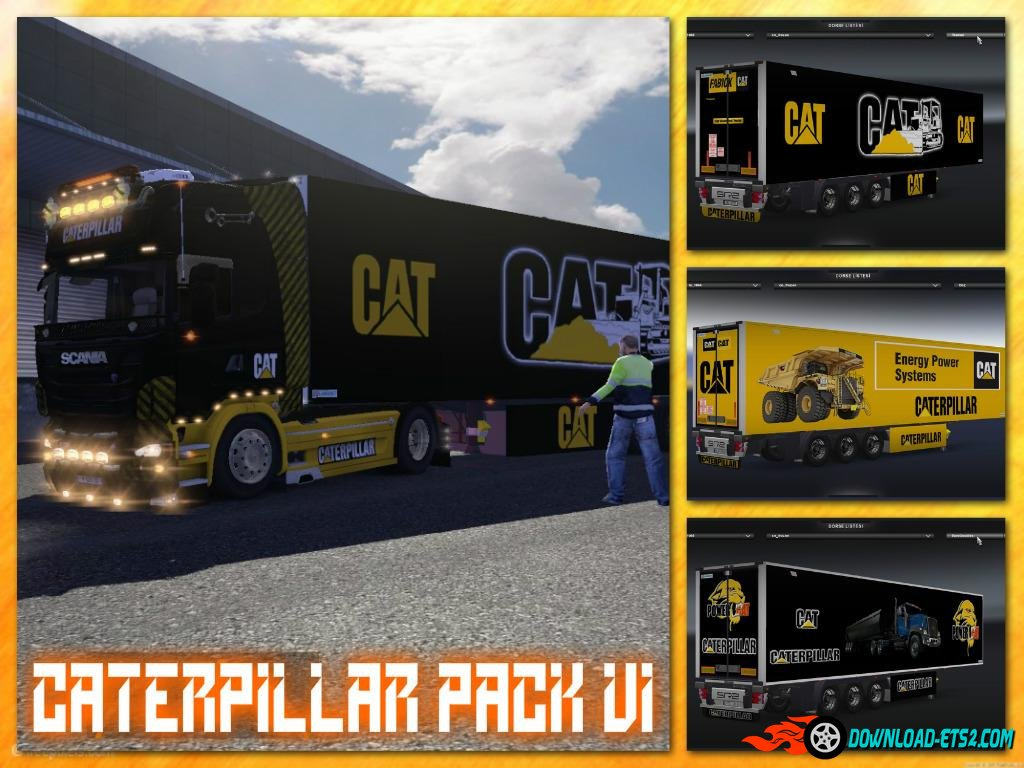 """CATERPILLAR"" Skin Pack For Trailer Lamberet  v1"