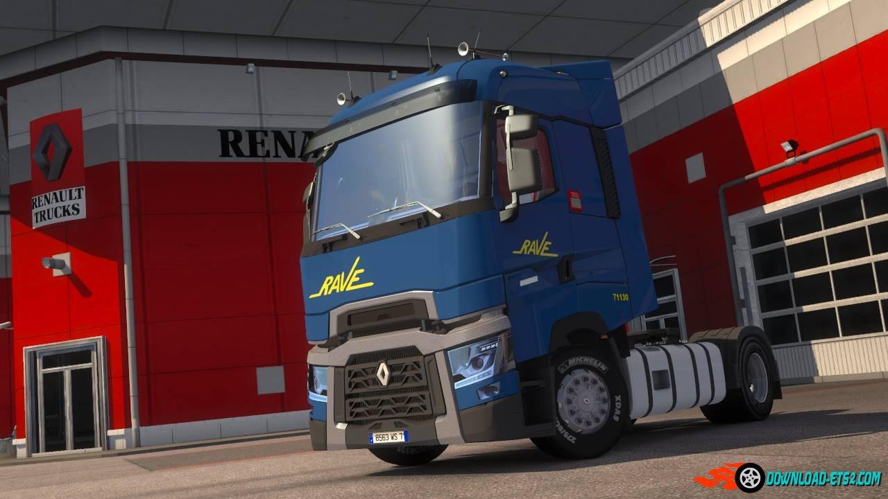 Renault Range T Transports Rave Skin