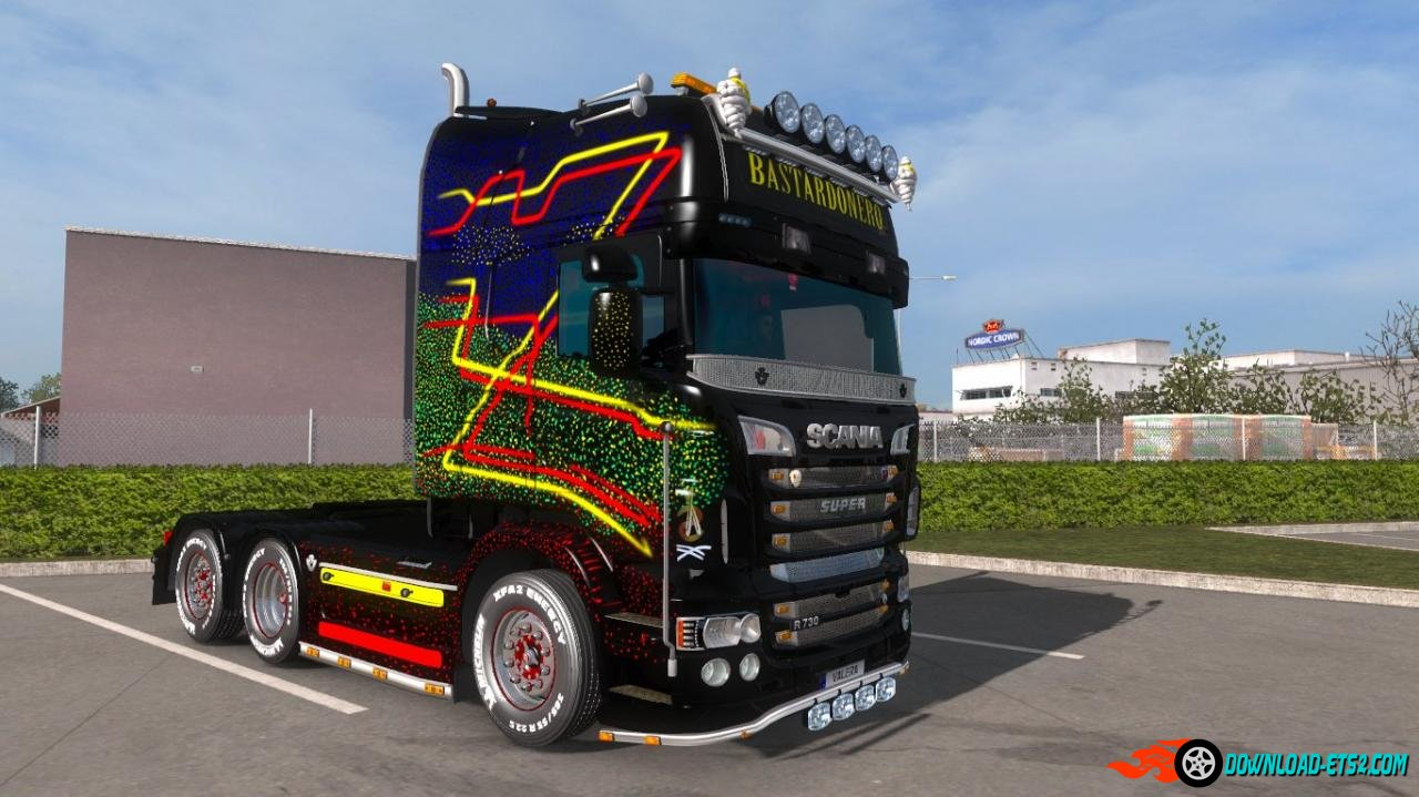 """BASTADONERO"" Skin for Scania RJL TOPLINE."