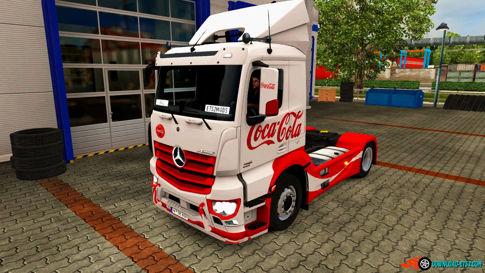 Coca-Cola skin for Mercedes Antos 2012