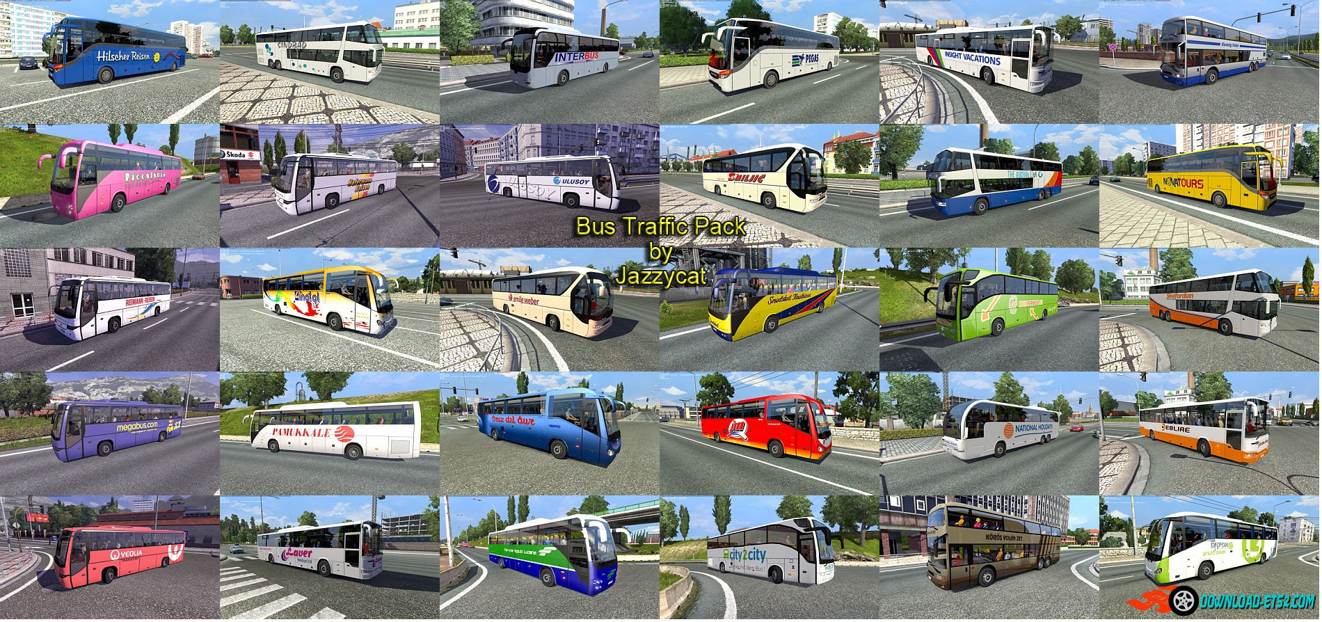 Bus Traffic Pack v1.2 by Jazzycat