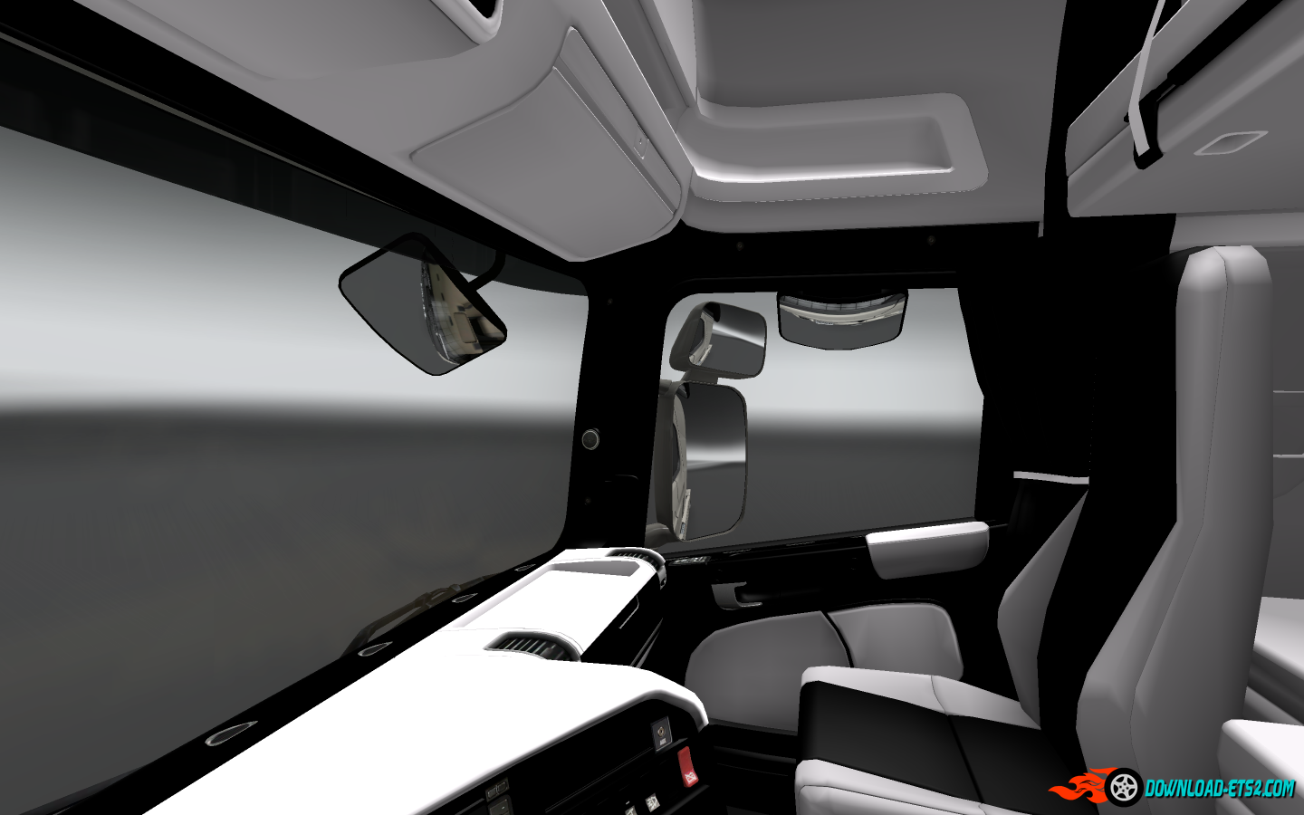 Scania Interior Black / White and Speed indicator