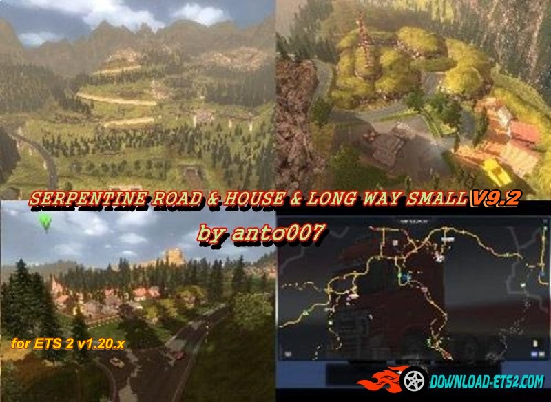 SERPENTINE ROAD & HOUSE & LONG WAY SMALL V9.2