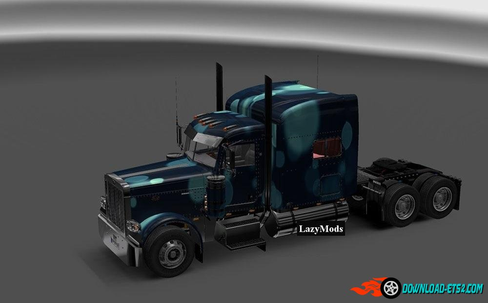PETERBILT 389 MODIFIED ABSTRACT CIRCLES SKIN