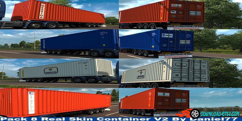 CONTAINER TRAILER PACK WITH REAL SKIN V2.0