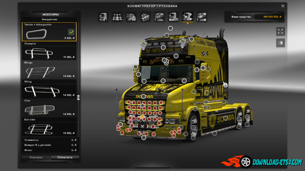 Add-on to Scania T (RJL v1.7)